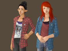 Deedee-sims | Rachel's top from Life is Strange for Sims 2