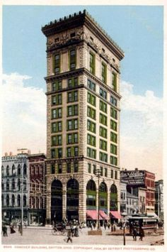 Conover Building, Dayton, Ohio - Copyright 1904, Detroit Photographic Co.