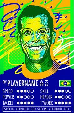 Carlos Alberto - Kampion Football Cards by José Marconi Bezerra de Souza, via Behance