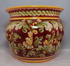 Traditional Sicilian Decorated Vase Planter by APutiaduRe on Etsy