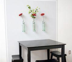 Hanging Flower Vases - Great Idea!