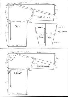 Easy Sewing Patterns, Sewing Tutorials, Diy Clothing, Clothing Patterns, Sewing Blouses, Diy Tops, Japanese Sewing, Pattern Drafting, Fashion Sewing