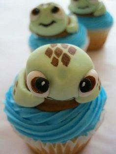 Cute turtle cupcakes.