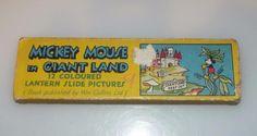 Mickey Mouse in Giant Land - Vintage 1930 s Magic Lantern Slides - Walt Disney