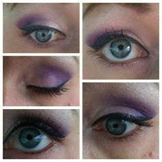 My purple eyes for our Urban Decay event :) #LizBradshaw #makeupartist