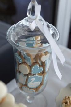 Christening centrepiece cookie jar