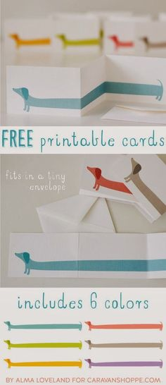 DARLING DACHSHUND FREE PRINTABLES--- these are so cute and everyone I sent them too loved them!