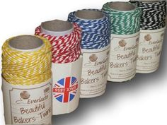 "Everlasto ""Beautiful"" Bakers Twine Primary Colour Craft Pack - 5 x 20m"
