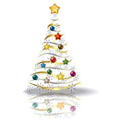 Transparent_Christmas_Gold_Tree_PNG_Picture.png ❤ liked on Polyvore featuring christmas