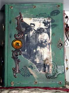 Altered Book Cover by decadence_2artbar, via Flickr