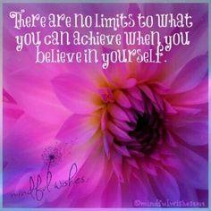Geloof in jezelf en je zult versteld staan van je kunnen