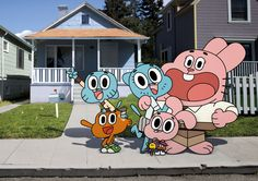 The Amazing World of Gumball!! Mum, Dad, Aniese, Darwin and.....GUMBALL!!!!!