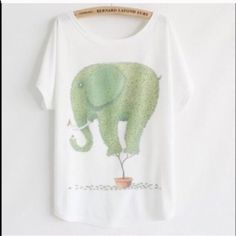 Bundle for coloredcheerios  (1) Tee (1) Bracelet Bundle for coloredcheerios  (1) Animal Tee~Elephant  (1) Bracelet PU Leather Chunky Chain Bracelet Magnet Closure (1) FREE PAIR OF CZ EARRINGS Other
