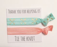 A personal favorite from my Etsy shop https://www.etsy.com/listing/294988795/bridesmaid-hair-tie-favorsmint-cross