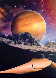 Seam Less' Photo Manipulation Guide for Beginners Planets Wallpaper, Galaxy Wallpaper, Stars Night, Moon Stars, Alien Worlds, Scenic Photography, Science Fiction Art, Sci Fi Art, Illustrations