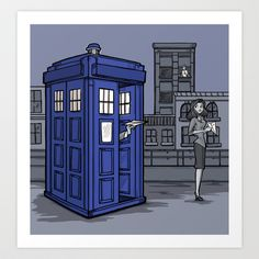 This is so a thing Doctor Who would do -- I can see the entire story line already. PaperWho Art Print by Karen Hallion Illustrations - $16.99