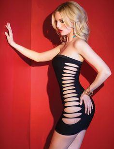 Sexy Clubwear, Sexy Dress, Strapless Dress, Cutout Sides Dress