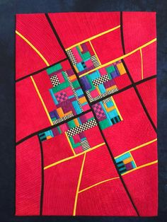 Quilt by Alicia Merrett Gees Bend Quilts, Map Projects, Sewing Projects, Map Quilt, Cityscape Art, Fabric Boxes, Geometry Art, Alphabet Art, Landscape Quilts