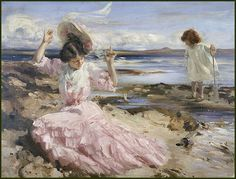 Charles Henry Sims - By Summer Seas