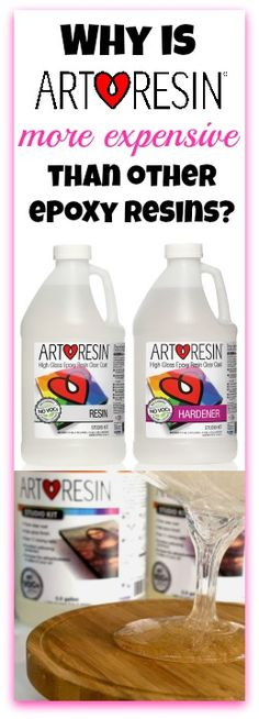 ArtResin FAQ - Why is ArtResin more expensive than X brand of epoxy resin? Good question!  In short, #ArtResin is unique in that (1) it preserves your art by staying #clear, and (2) it preserves your health by not emitting toxic fumes. Visit our blog to read more http://www.artresin.com/blogs/artresin/why-is-artresin-more-expensive-than-other-epoxy-resin-brands and visit our massive FAQ section at https://www.ArtResin.com