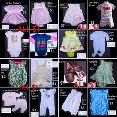 Just a few of the items marked down to ONE DOLLAR!  See all marked down items here https://baby-girl-heaven.myshopify.com/collections/all?sort_by=price-ascending
