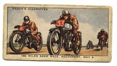 Antique Racing motorcycle Cigarette card
