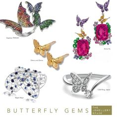Butterfly jewels - Stephen Webster, Anna Hu, Glanz & Gloria, Cafe Ring Japan, Ralph Masri