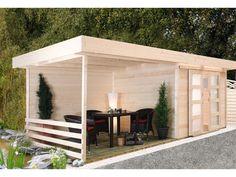 Modern und äußerst praktisch - das Pultdach Gartenhaus Java von ...