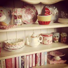 miniature kitchen hutch...mini cookbooks!
