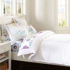 Whether your style is simple or bold, Pottery Barn Teen's girls duvet covers will let your personality show. Find bold colored and printed duvet covers for twin, full, queen and king beds. Teen Girl Bedrooms, Big Girl Rooms, Kids Rooms, Classic Bedding, Girls Duvet Covers, Bed Covers, Pillow Covers, Teen Bedding, Bedding Sets