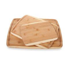 3-Piece Bamboo Cutting Board Set - BedBathandBeyond.ca