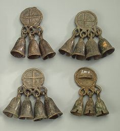 Round pendants with bells C Village of Bezvodny (now Vyatka Region) Russia