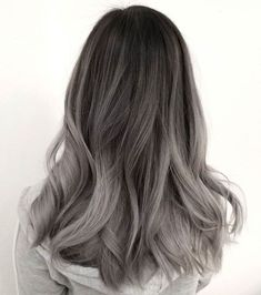 51 Gorgeous Hair Color Worth To Try This Season balayage hair color, light brown hair color ideas, h Ash Grey Hair, Grey Ombre Hair, Brown Blonde Hair, Brown To Grey Ombre, Silver Ash Hair, Pastel Ombre, Blonde Honey, Silver Blonde, Cool Blonde