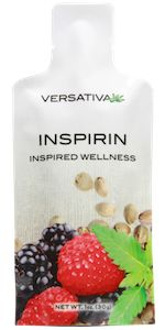 The two most nutrient dense and powerful plants together for the first time: Hemp and MarinePhytoplankton.  Inspirin is by far the most powerful item in the entire Versativa line combining hemp seed oil with a variety of other powerful ingredients, including whole raspberries and blackberries, as well as marine phytoplankton.Combining these superfoods together has led to Inspirin, a product that can melt away pain and stress within 60 to 120 seconds.