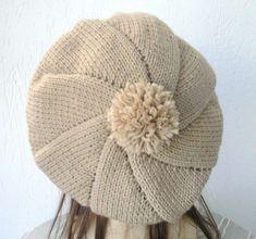 Lavori a maglia: il basco - Basco chiaro