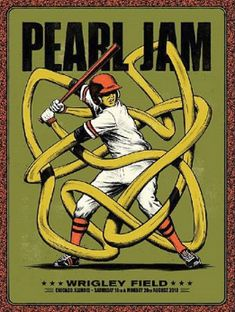 Title: Pearl Jam Poster artist: Andrew Fairclough Edition: Show Year: 2018 Type: Limited edition screen printed poster Size: Location: Chicago, IL Venue: Wrigley Field Rock Posters, Band Posters, Concert Posters, Music Posters, Retro Posters, Festival Posters, Screen Print Poster, Poster On, Poster Prints