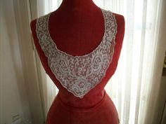 1 Antique full collar of beautiful embroidered by TextileArtLace