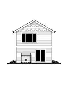 Bungalow Craftsman Rear Elevation of Plan 91470