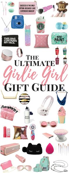 The Ultimate Girlie Girl's Gift Guide Gift Ideas for her - Girlie Girl Gift Guide. Looking for gift ideas for your best friend/bestie? Maybe a gift idea for teenage girls, or gift ideas for other women in your life? Here is a great Gift Guide for her.