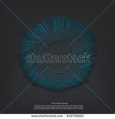 Minimalistic abstract line background vector illustration for album music or other cover.