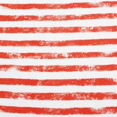 Graffiti Stripe Tangerine Cotton Jersey Knit Fabric
