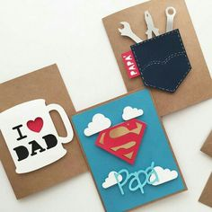 Fathers day cards, diy for fathers day, mothers day cards, diy cards for da Happy Fathers Day Cards, Fathers Day Crafts, Mothers Day Cards, Diy Cards For Dad, Fathers Day Ideas, Fathers Day Cards Handmade, Fathers Day Presents, Handmade Birthday Cards, Father Birthday