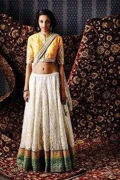 Shop from an exclusive range of luxurious wedding dresses & bridal wear by Anita Dongre. Bring home hand-embroidered wedding wear in colors inspired by nature. Tribal Fusion, Indian Dresses, Indian Outfits, Pakistani Outfits, Lehenga Jewellery, Anita Dongre, Sari Blouse Designs, Indian Couture, Indian Wear