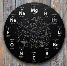 [New] The 10 Best Technologies Today (with Pictures) - The clock of elements used in chemistry) (The clock is useful to learn the elements of chemistry. Chemistry Classroom, Chemistry Notes, Teaching Chemistry, Science Chemistry, Organic Chemistry, Science Art, Chemistry Gifts, Chemistry Humor, Math Clock