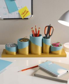 Plaid_DIY desk organizer_15
