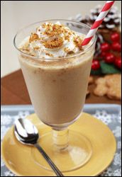 HG's Just-2-Good Gingersnap Shake  entire recipe (about 12 oz.)  Calories: 184