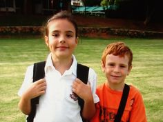 This is my sister Jamie and I on her first day of school