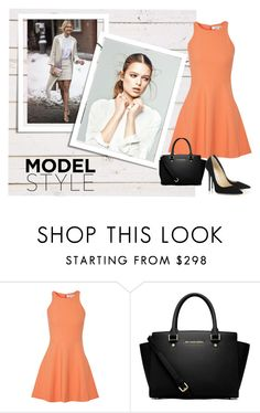 """""""#Modelstyle"""" by ammwrk ❤ liked on Polyvore featuring Elizabeth and James, MICHAEL Michael Kors and Jimmy Choo"""