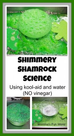 Shamrock Science for Kids - Fizzy fun for St Patrick's Day  - and without vinegar!