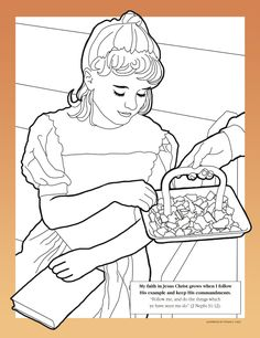 Lesson 3: The Commandments Help Us Choose the Right - Primary 3 Coloring Page